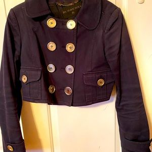Burberry 💯 Auth navy blue cotton jacket size 44